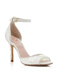Kate Spade New York Ideline Lace Ankle Strap High Heel Sandals Off White