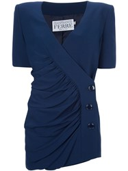 Gianfranco Ferre Vintage Jacket And Skirt Suit Blue