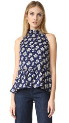 Shoshanna Moulton Top Navy Multi