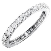 Ewa 18Ct White Gold Brilliant Cut Diamond Full Eternity Ring 0.85Ct