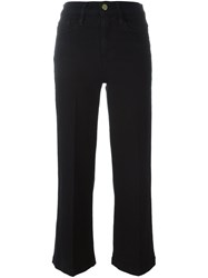 Frame Denim Cropped Trousers Black