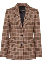 Maje Valilo Checked Tweed Blazer Ecru