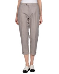 M.Grifoni Denim Trousers Casual Trousers Women Dove Grey