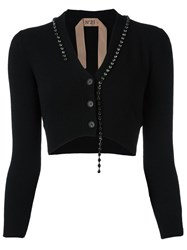 N 21 No21 Cropped Buttoned Cardigan Black