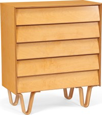 Modernica Case Study Dresser Bentwood Leg 5 Drawer Classic Light Brown