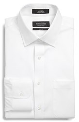Men's Big And Tall Nordstrom Trim Fit Non Iron Dress Shirt White