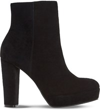 Dune Ottawa Suede Ankle Boots Black Suede