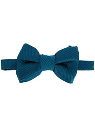 Tom Ford Striped Bow Tie Blue