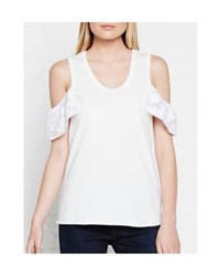 See By Chloe Cut Out Shoulder Top White