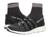 Tory Sport Banner Performance Sock Sneaker Perfect Black Shoes