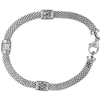 Jools By Jenny Brown 3 Cubic Zirconia Bead Chain Bracelet