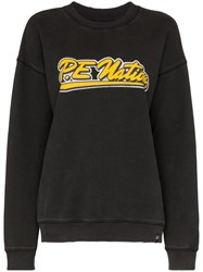 P.E Nation Ringer Logo Print Sweatshirt Black