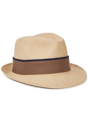 Christys' Hats Hoxton Sand Toquilla Straw Trilby Natural