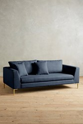 Anthropologie Linen Edlyn Sofa Navy