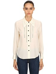 Coach Silk Crepe Shirt Cream