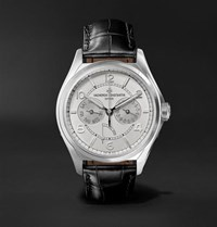 Vacheron Constantin Fiftysix Day Date Automatic 40Mm Stainless Steel And Alligator Watch Gray