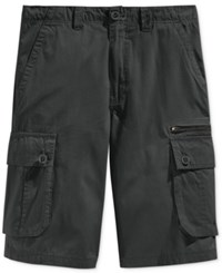 Lrg Men's Rc Cargo Shorts Dark Charcoal