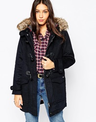 Pepe Jeans Holmes Duffle Coat With Faux Fur Hood 585