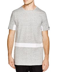 Zanerobe Color Block Broken Flintlock Tee Grey Marle White