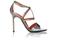 Walter De Silva Women's Specchio Leather Crisscross Strap Sandals Grey Dark Grey Grey Dark Grey