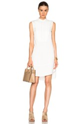 Atm Anthony Thomas Melillo Sleeveless Tuxedo Dress In White