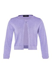 Hallhuber Lurex Cardigan With Deco Buttons Lilac
