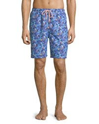 Peter Millar Under The Sea Swim Trunks Dark Blue
