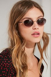 Urban Outfitters Sweetness Slim Oval Sunglasses Gold