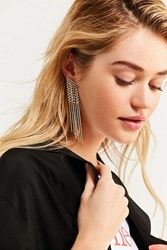 Urban Outfitters Falling Rhinestone Statement Drop Earring Clear