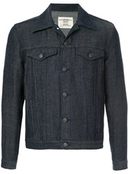 Kent And Curwen Classic Denim Jacket Blue
