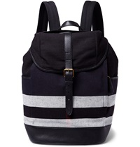 Burberry Jute And Cotton Blend Backpack Black