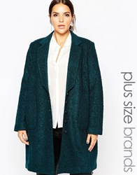 Carmakoma Button Down Pea Coat Green
