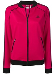 Adidas Tri Stripe Track Jacket Pink And Purple