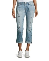 Hudson Riley Cropped Relaxed Straight Leg Indigo