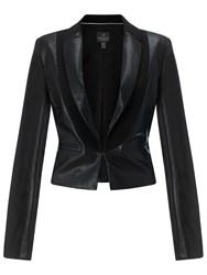 Adrianna Papell Faux Leather Jacket Black