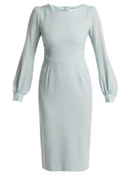 Goat Harper Crepe Dress Light Blue