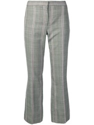 Alexander Mcqueen Cropped Check Trousers Black