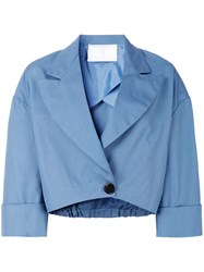 Societe Anonyme Cropped Jacket Cotton Blue