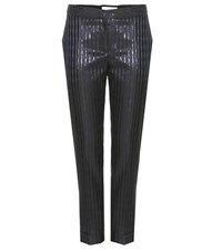 Carven Metallic Striped Trousers Black