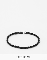 Chained And Able Metal Rope Chain Bracelet Black
