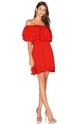 Amanda Uprichard Clementine Mini Dress Red