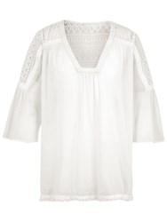 Fat Face Hannafore Lace Overhead Top Ivory