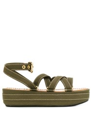 Marni Strappy Wedge Sandals 60