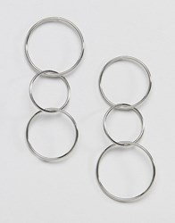 French Connection Multihoop Earrings Silver