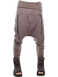 Demobaza Earth Resin Coated Wrinkled Jersey Pants