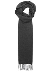 Johnstons Of Elgin Charcoal Cashmere Scarf