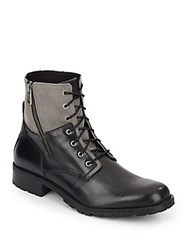 Marc New York Vesey Leather And Canvas Boots
