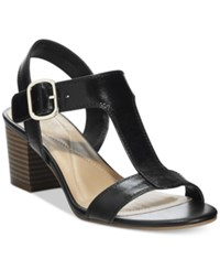Alfani Women's Yullia T Strap Sandals Only At Macy's Women's Shoes Black