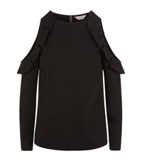 Ted Baker Steffe Cold Shoulder Top Black