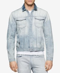 Calvin Klein Jeans Men's Sun Faded Indigo Denim Jacket Sunfaded Indigo